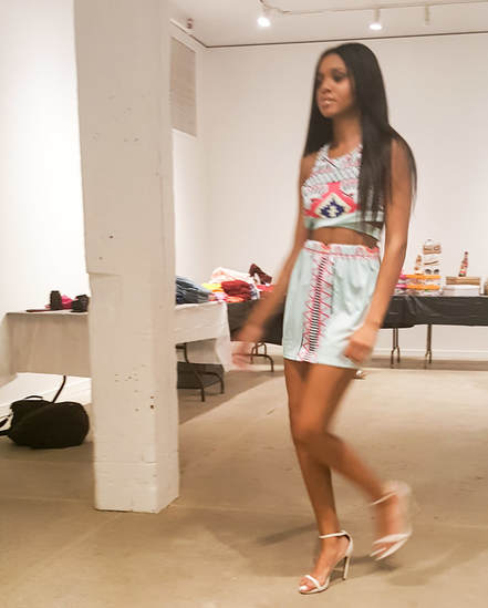 Model wearing Sweet Nothing's Boutique Fashion Show