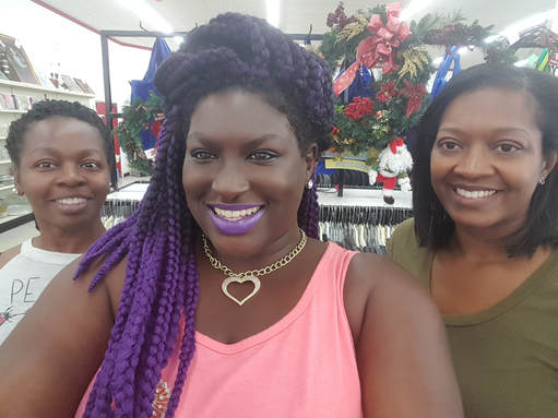 Lady Silk and models shopping at Value World