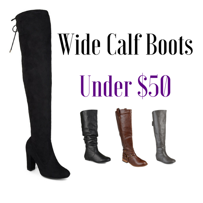 Wide calf boots under $50
